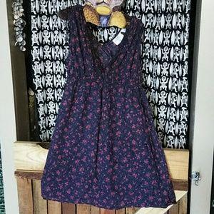 H&M linen dress.Floral print